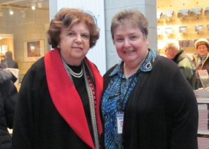 Mira (left) with ILHMEC's Lillian Gerstner